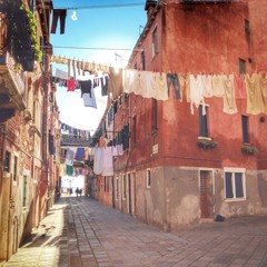 venice, typical houses