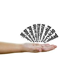 Conceptos de negocios y empresa en acción