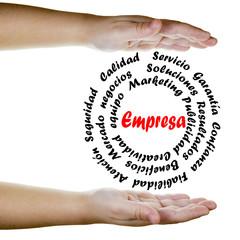 Empresa en acción y conceptos de negocios