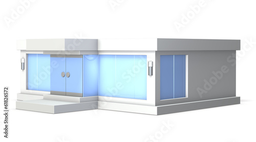 Architectural models of clothing store