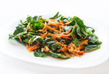 Carrot and spinach salad