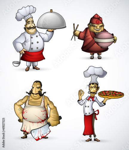 Set of four chefs - 61827523