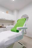 Chair in modern healthy spa salon. Interior treatment room.