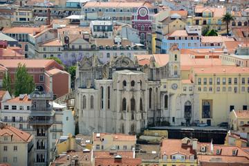 Igreja do Carmo and Historical Baixa district, Lisbon