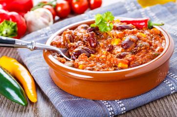 Chili con carne - Eintopf mit Bohen und Hackfleisch