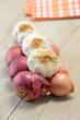 Treccia di aglio, cipolla e scalogno