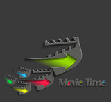 Symbol of Movie Time, isolated vector design