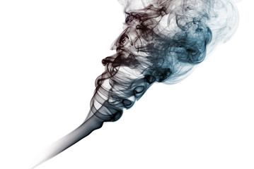 Dark smoke isolated