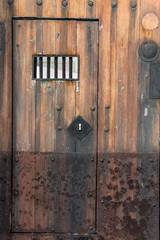 Prison wooden door