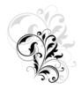 Decorative floral motif