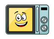 Cute cartoon microwave oven