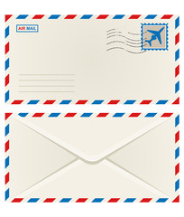 Front and back of an airmail envelope