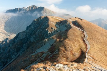 Autumn on the ridge of Western Tatras, Slovakia.