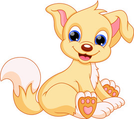 Illustration of cute puppy cartoon