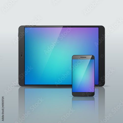Vector Smartphone Tablet isolated illustration