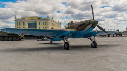 военный самолет экспонат военного музея