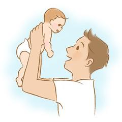 パパと赤ちゃん/イクメン