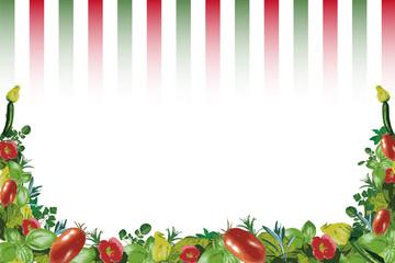 イタリアントマトとハーブ