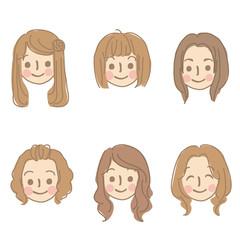 女性 顔 セット