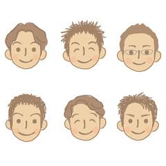 男性 顔 セット