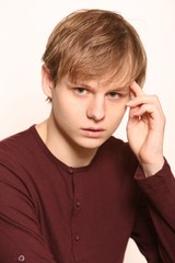 Serious Portrait, Teen Male