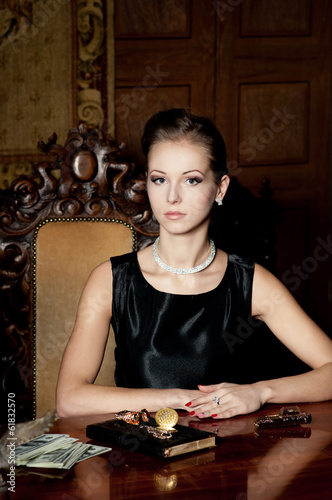 Portrait of elegance woman