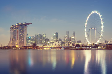 Singapore`s business district.