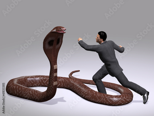 Conceptual business man fighting