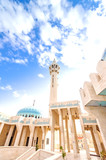 King Abdullah I Mosque in Jordan was built between 1982 and 1989