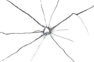 shattered glass on white