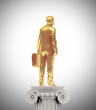 Golden businessman statue