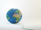 World map cball of wool