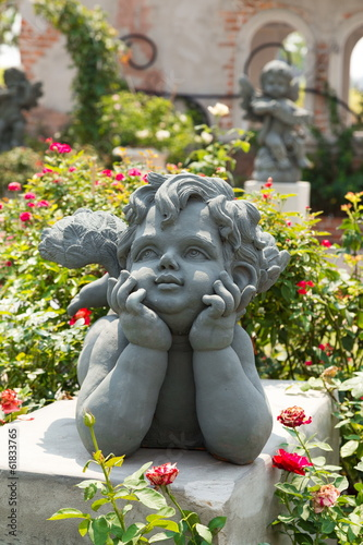 Cupid in a garden