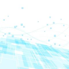 High-tech background template - blue geometry
