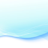 Abstract blue swoosh wave template