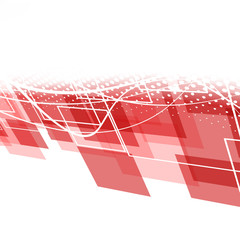 Modern red geometric background