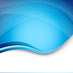 Hi-tech blue modern background template