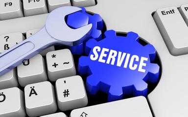 Service - Tastatur - Schraubenschlüssel