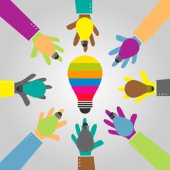 share idea bulb