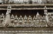 Wooden carving detail at Shwenandaw Kyaung Temple  in Mandalay,