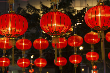 Red Chinese Lantern for Chinese New Year Celebration