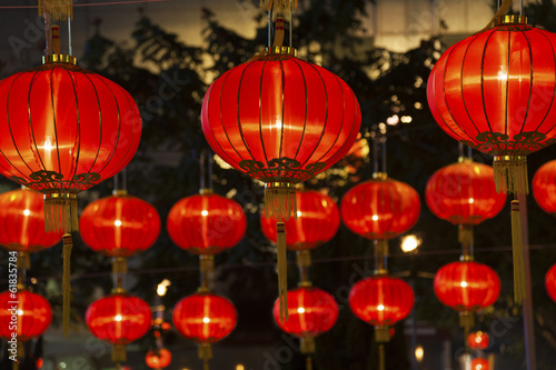 Papiers peints Chine Red Chinese Lantern for Chinese New Year Celebration