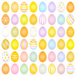 Slim Easter Eggs Pattern Yellow/Orange/Blue/Purple