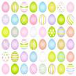 Set Slim Easter Eggs Pattern Pastel