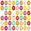 48 Slim Easter Eggs Pattern Color