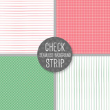 Check and Strip Seamless pattern. Geometrical vector background.