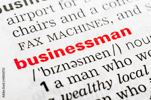 Businessman Word Definition In Dictionary Close Up