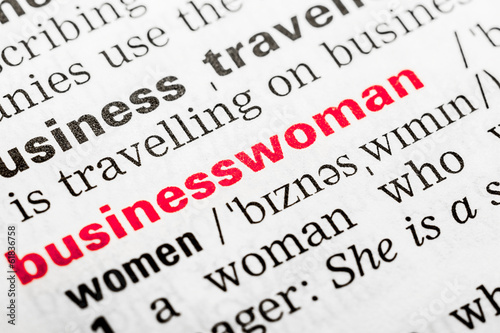 Businesswoman Word Definition In Dictionary Close Up