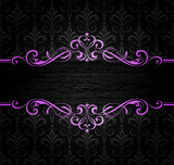 Frame on Seamless Damask