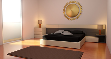 Camera da letto arredata